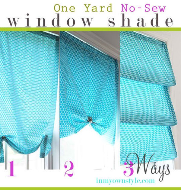 No Sew Window Treatment –3 Ways