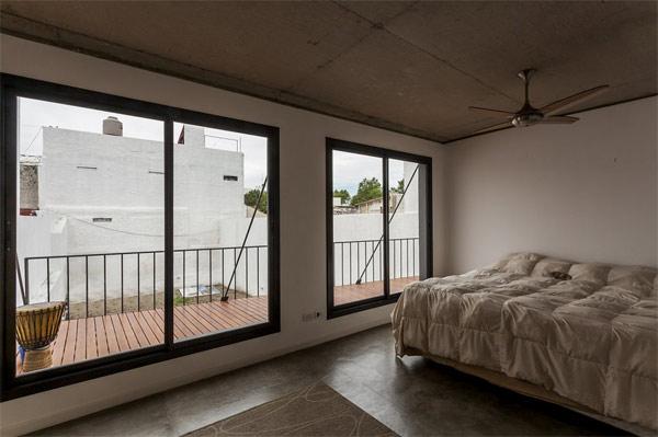 bedroom facing veranda