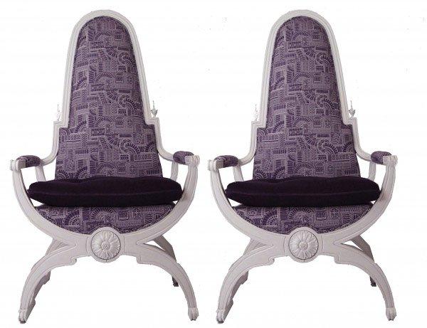 tufted cushion throne chair