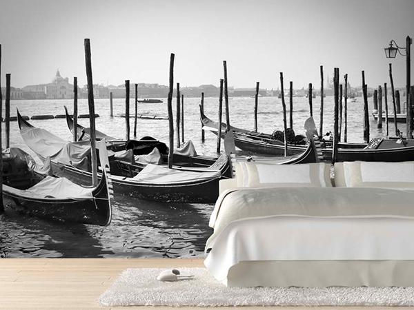 gray boats