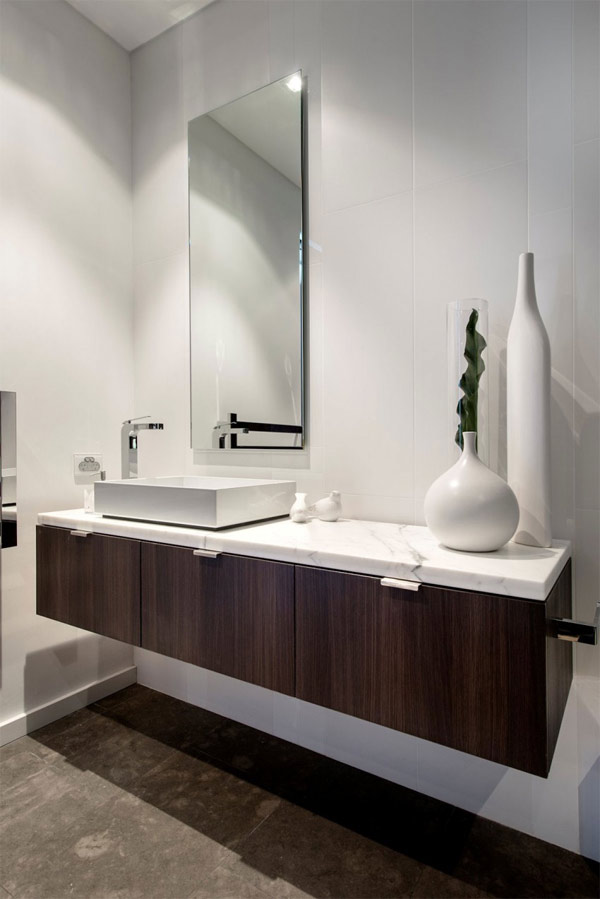 expressing views bathroom sink with mirror