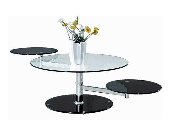 swivel glass coffee table