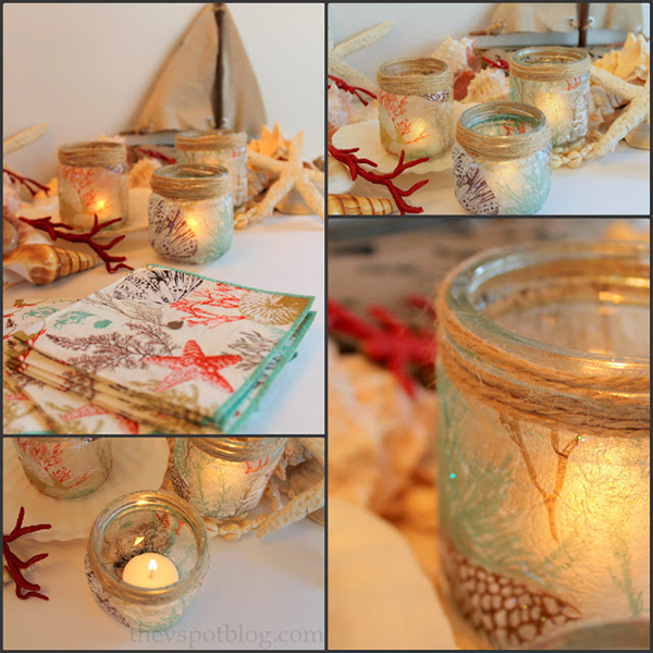 Sea-inspired DIY Candle Holders