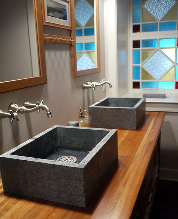 soapstone basin bathrooms