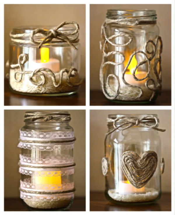 DIY Project: Retro-Chic Twine and Glass Candle Holders