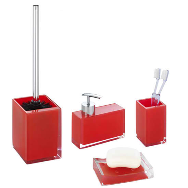 Purple Bathroom Accessories Uk 20 fascinating red bathroom accessories | home design lover