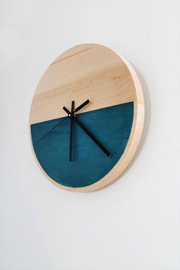Minimalist Wooden Clock