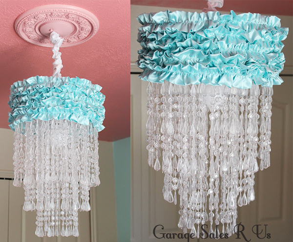 DIY Ruffle Beads Chandelier