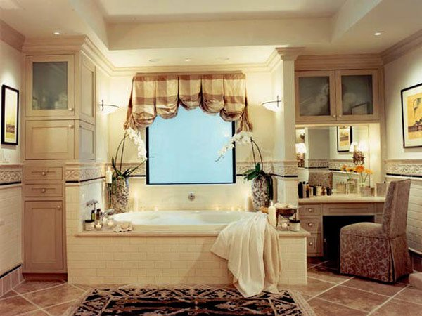 Checkered Valance. Jone Pence Design. The Designer Topped This Traditional Bathroomu0027s  Window ...