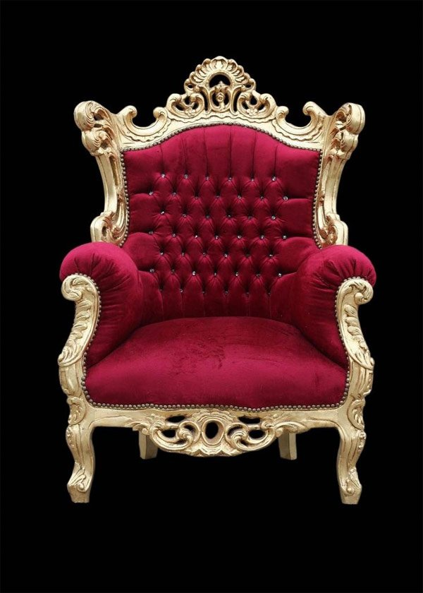 red velvet throne