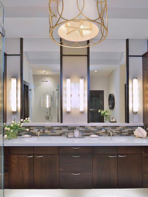 clean double vanity