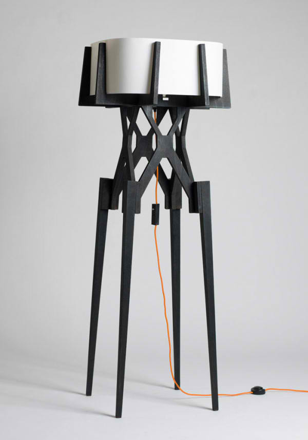 black unique lamp