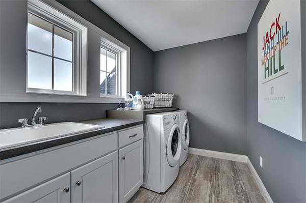 Wash Dry And Fold In These 23 Gray Laundry Areas Home