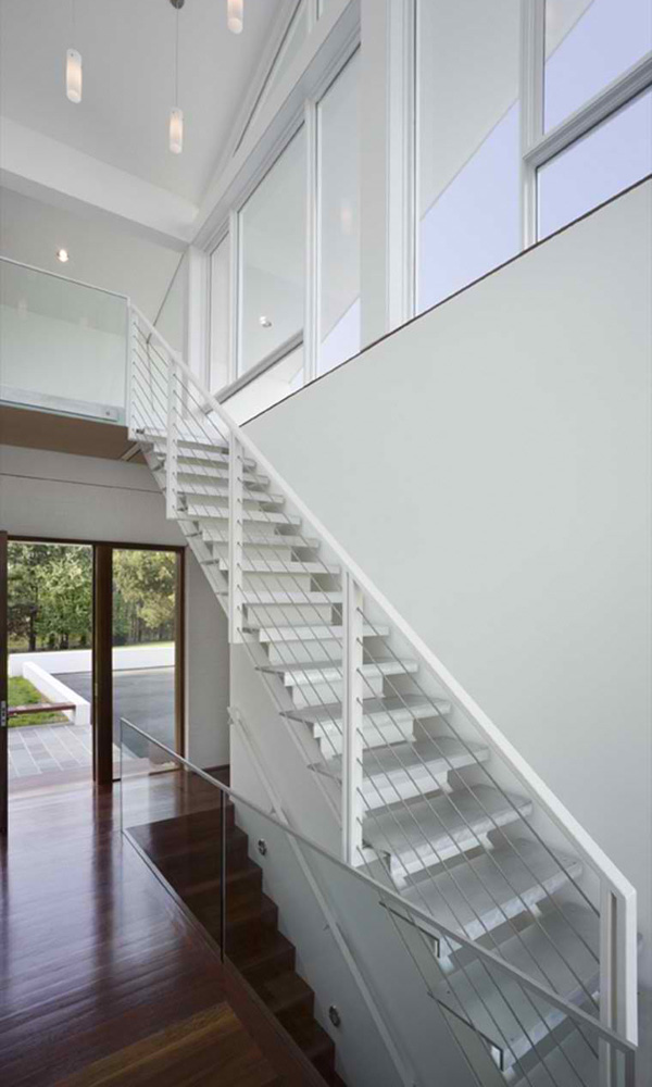 white stair design