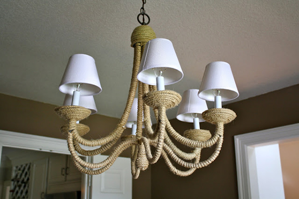 Rope-Wrapped Chandelier