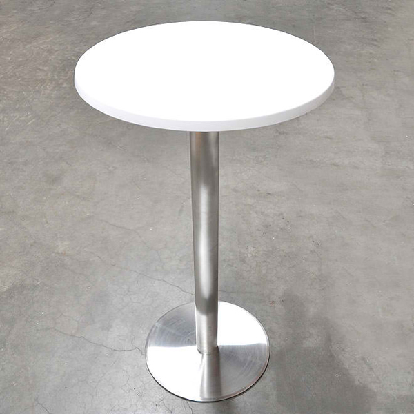 Zerbst Stainless Round White Bar Table. Email; Save Photo. Zerbst