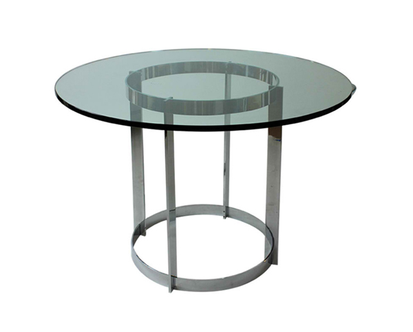 Round Glass Top Stainless Steel Flat Bar Table. Email; Save Photo. Flat