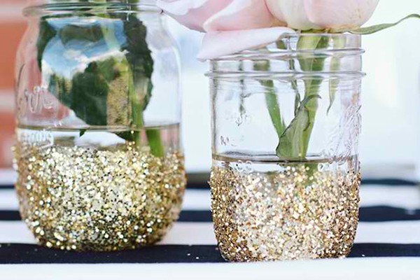 Glitter Vase DIY