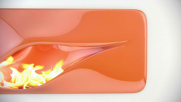 futuristic fireplace
