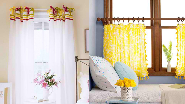 20 Uber Easy No-Sew DIY Curtains | Home Design Lover