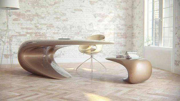 marvellous sleek modern contemporary home office desk design | Nebbessa Table: An Ultra-modern Sleek Desk Design | Home ...