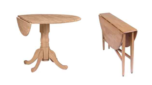 20 Pretty Wooden Oval Drop Leaf Dining Tables Home Design Lover