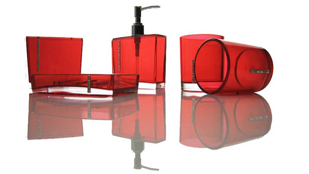 20 Fascinating Red Bathroom Accessories Home Design Lover