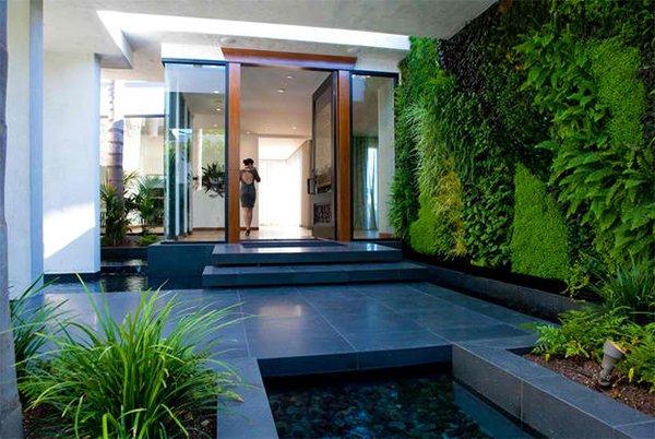 verdant green wall