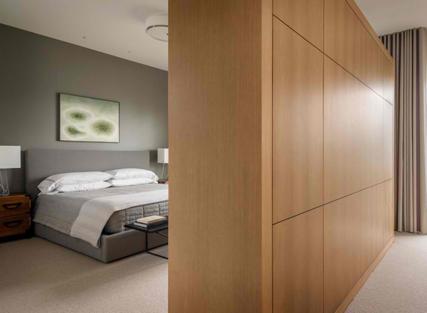bedroom wood partition