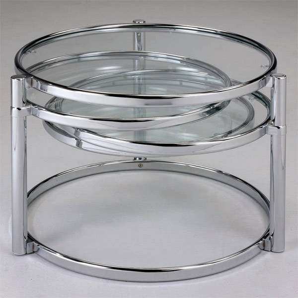 chrome finish modern table