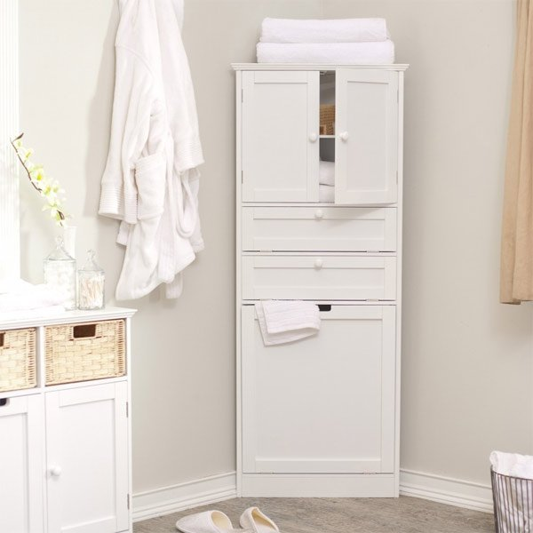 20 Corner Cabinets to Make a Clutter-Free Bathroom Space ...