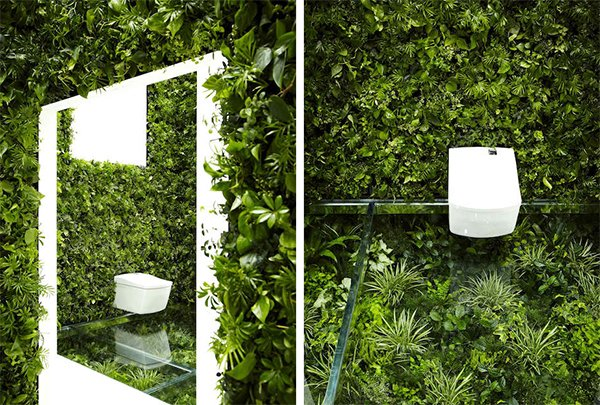 bathroom wall planters