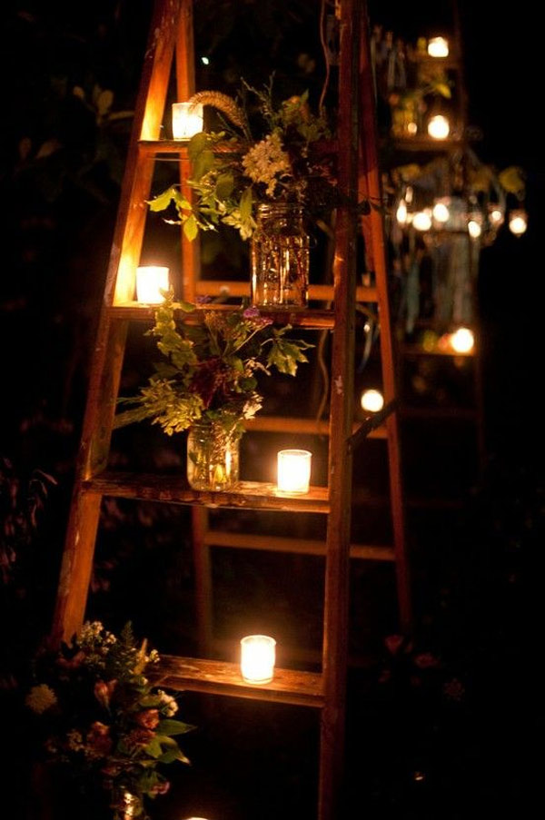 ladder wedding decor