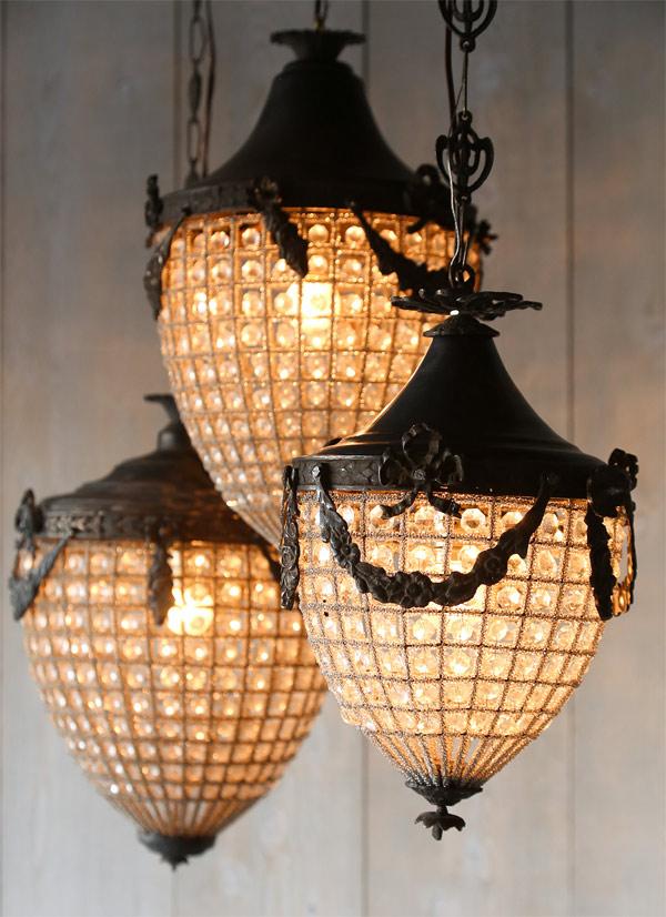 crystal beads lantern
