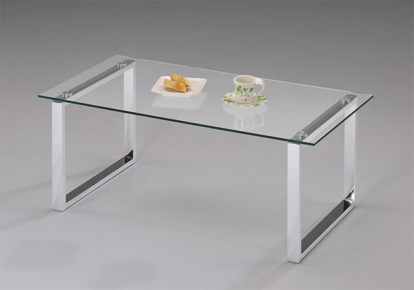 glass top modern glass coffee table