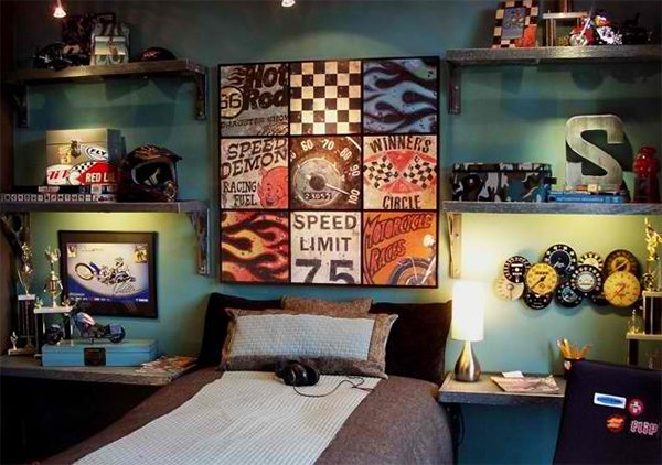 Teen Racing Bedroom