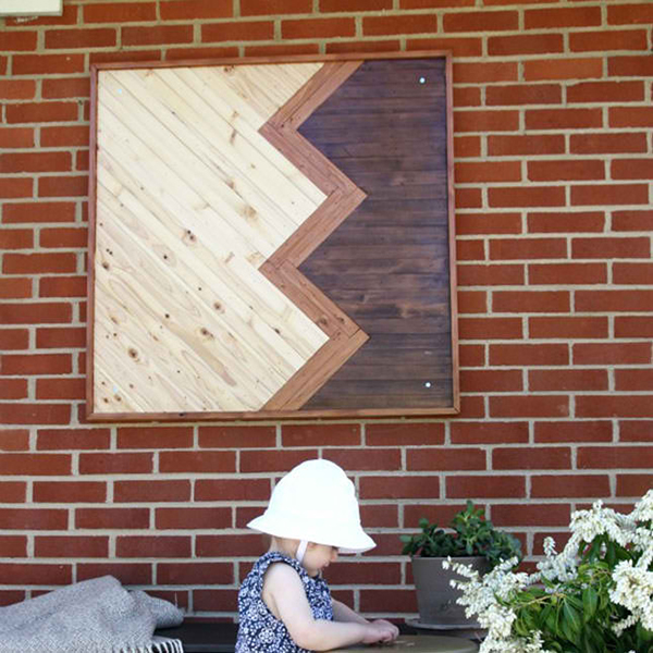 Chevron Outdoor Wall Art