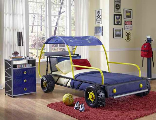 Powell 904-038 Boy Kids Dune Buggy Car Twin Bed