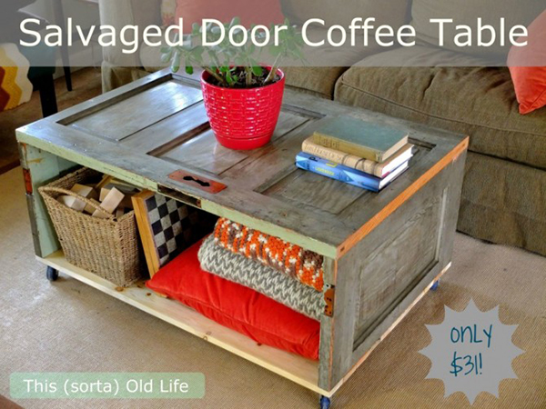 Salvaged Door Coffee Table