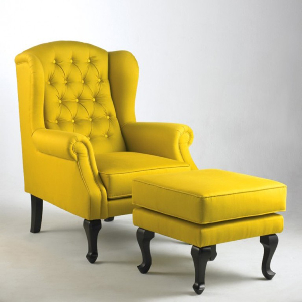 20 fascinating yellow living room chairs home design lover for Living room stools