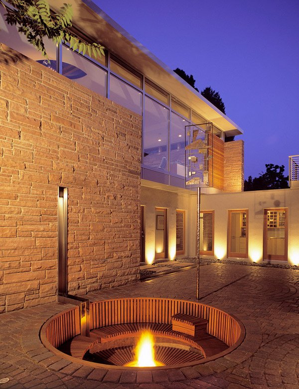 fire pit garden patio