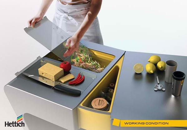 Accordion Folding Kitchen Table