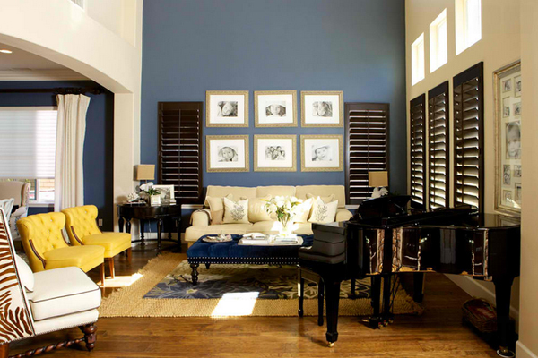 20 Amazing Blue Black White Yellow Living Rooms Home Design Lover