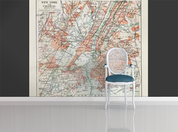 Antique map of New York