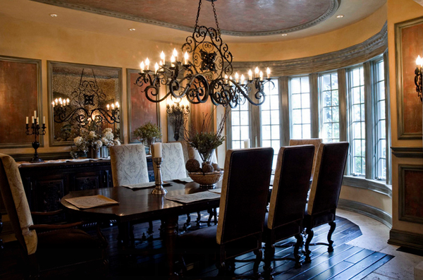 20 outstanding tuscan dining room decors home design lover for Table decor international inc