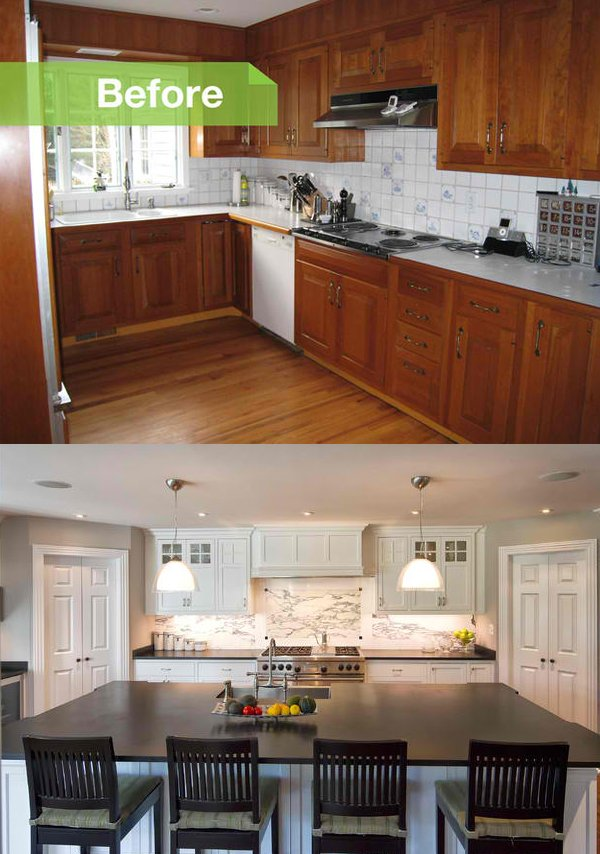 Kitchen Remodel: Before And After Photos Of A Modernized 1970s New Jersey