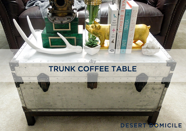 20 amazing ways to diy a coffee table home design lover for How to turn a trunk into a coffee table