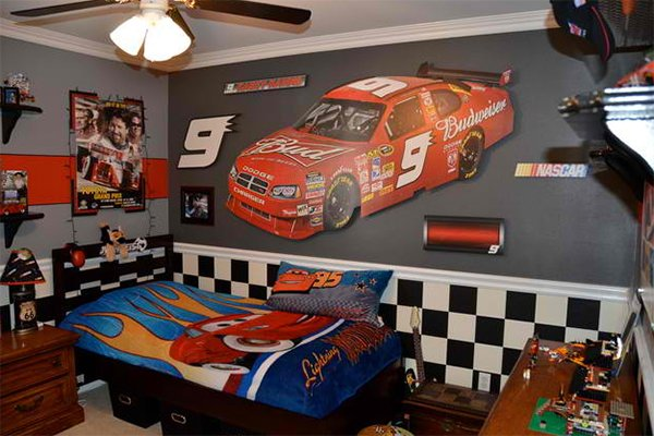 Boys Race Car Inspired Room