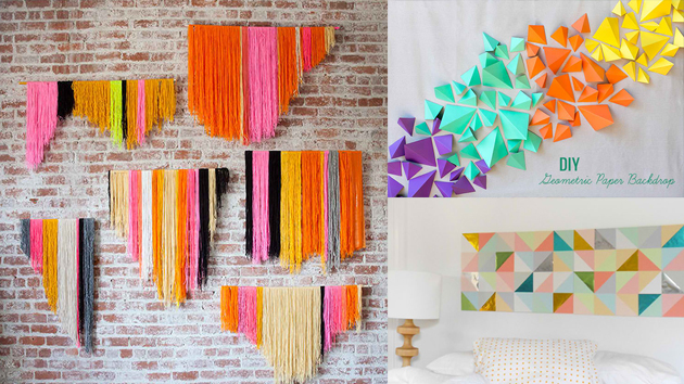 20 diy geometric wall art decorations for a vivid modern for Art e decoration rivista