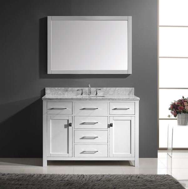 Merveilleux 1. Caroline 48inch Single Square Sink Bathroom Vanity